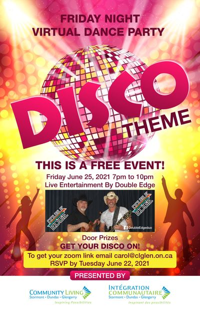 Free Virtual Disco Theme Event